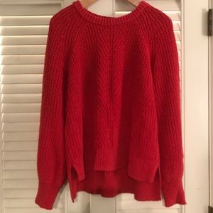 Madewell Balloon Sleeve Pullover Sweater Large